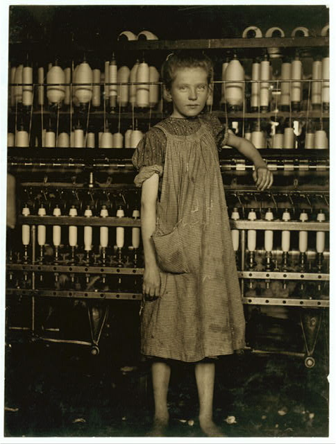 Addie Card. Foto. Lewis Hine, 1910